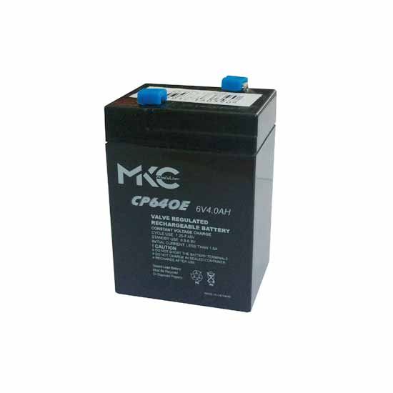 Rechargeable lead acid battery 6V 4Ah MKC