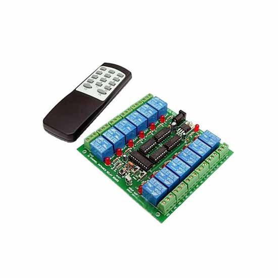 12-channel remote control unit on / off multi-433MHz