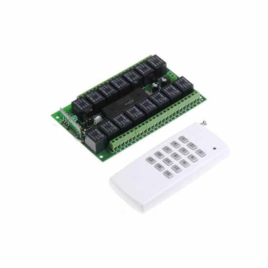 15 channel remote control unit on/off multi-433MHz relay