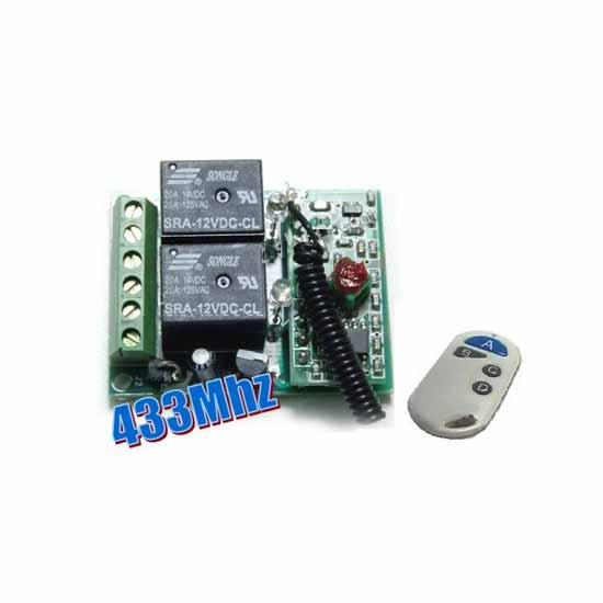 2-channel remote control unit on / off 433MHz