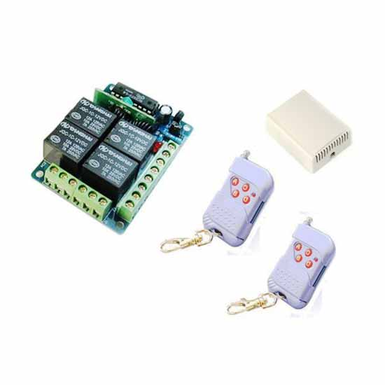4-channel remote control unit on / off 433MHz + 2 remotes