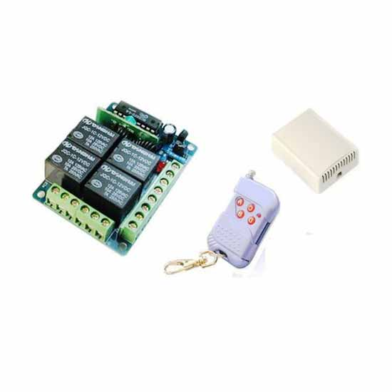 4 channel remote control unit on/off multi 433MHz + 1 remote c.