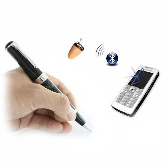 Micro earpiece invisible wireless bluetooth inductive pen