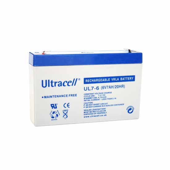Rechargeable lead battery 6V 7Ahh Ultracell European