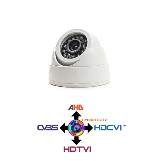 Mini Dome Camera CCTV fixed 2.8mm 4IN1 Hybrid 1.3Mpx HD@720p