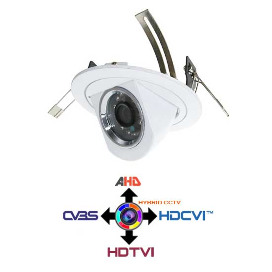 Recessed Dome Camera CCTV 2.8mm 4IN1 Hybrid 2Mpx HD@1080p