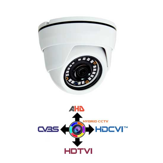 Hybridkamera Kuppel 4IN1 CCTV fest 2.8mm 1Mpx HD@720p IP20