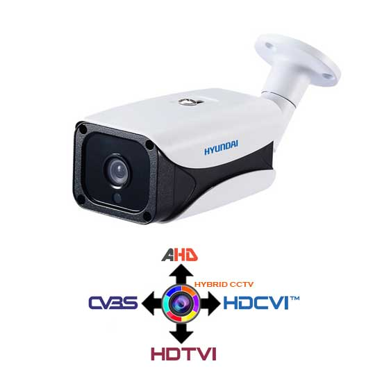 Bullet Camera CCTV 2.8mm HYUNDAI 4IN1 Hybrid 2.4Mpx HD@1080p