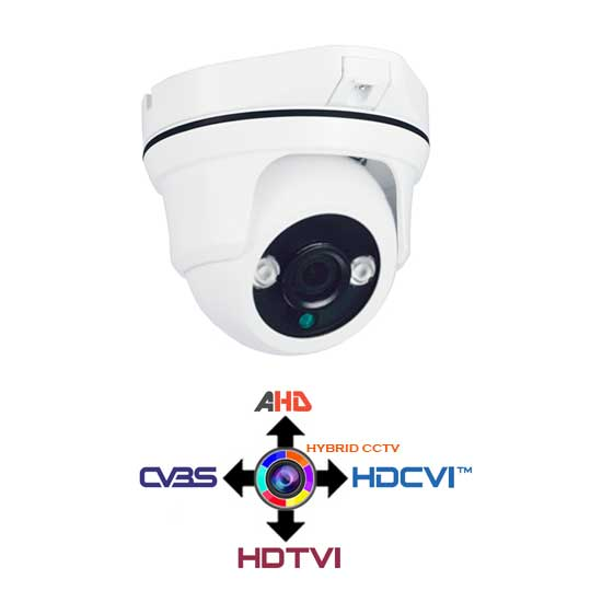 Dome Camera CCTV fixed 3.6mm 4IN1 Hybrid 2Mpx HD@1080p