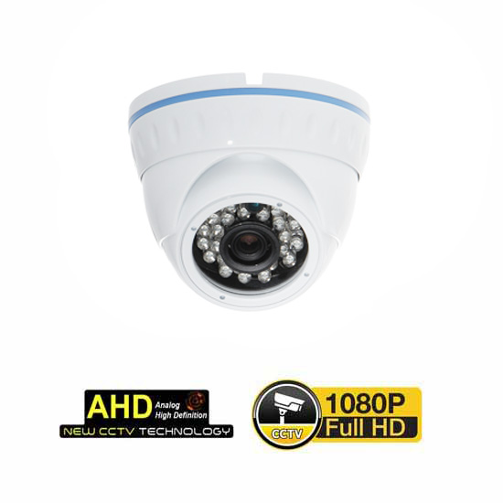 Dome-Kamera AHD@1080p CMOS 24 LED 3.6mm UTC Weiss IP66