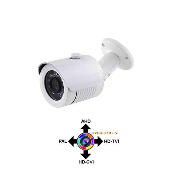 Hybrid White Bullet Camera 3.6mm 1080p AHD, HD-CVI,HD-TVI, PAL