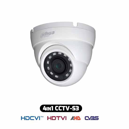 Caméra Dome HDCVI Hybride 4IN1 720p 1Mpx IP67 HAC-HDW1000M-S3