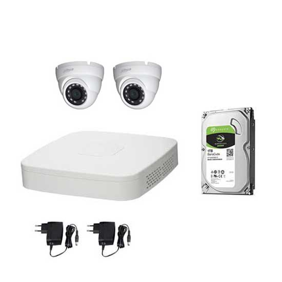 Kit Video Surveillance DAHUA HD @720p XVR 4CH + 2 CCTV + HD