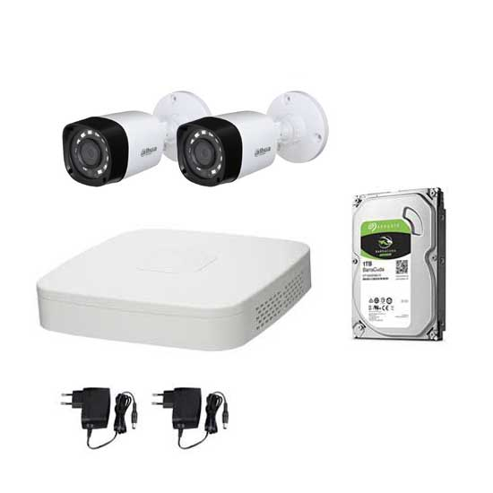Kit Video Surveillance DAHUA FULL HD @1080p XVR 4CH + 2 CCTV + HD