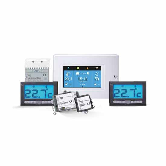 Home Automation System Multizone thermostats TH PLUS KIT WH