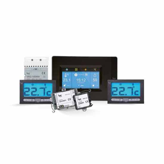 Home Automation System Multizone thermostats TH PLUS KIT BK