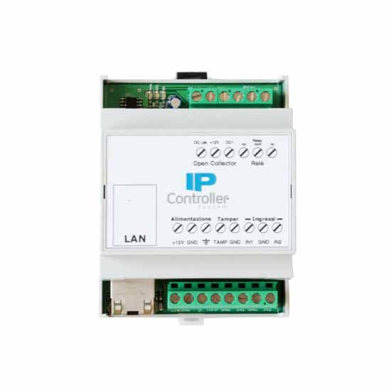 Stand-alone IP Module with 2 inputs and 2 outputs in DIN rail bo