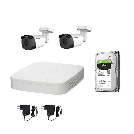 Kit Videosorveglianza HYUNDAI FULL HD@1080p DVR 4CH +2 Bullet + HD