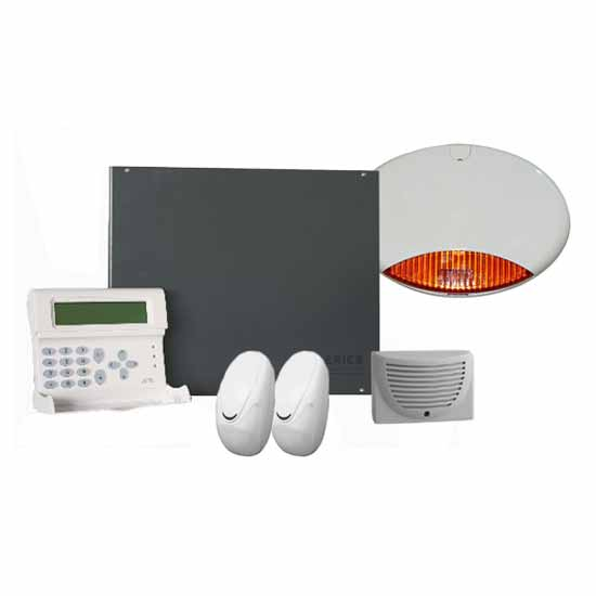Complete kit with wired burglar alarm central AMC S840KIT