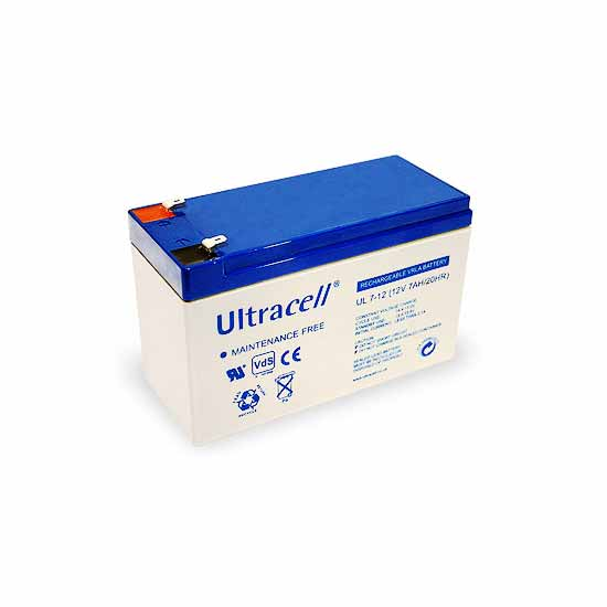 Rechargeable lead battery 12V 7 Ah Ultracell European
