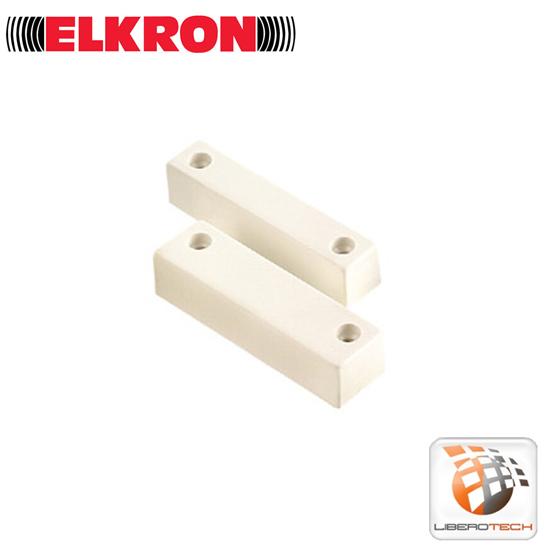 Contatto magnetico porte e finestre elkron mms01 10pz mm5300113 liberotech - Antifurto porte e finestre ...