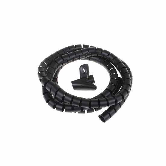 Flexible Cable manager Ø 25 Black -  2 meters