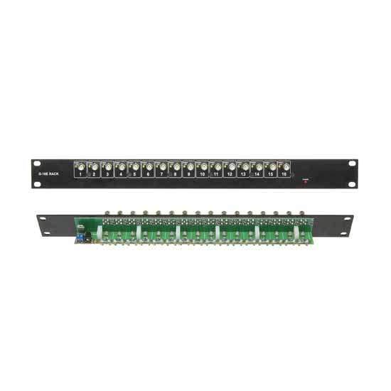 Video distributor 16 output BNC CCTV Rack 19