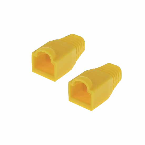 RJ-45 Cable Boot Yellow pack of 10 pcs