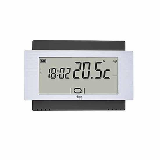 Touch screen thermostat Wall Battery Black Bpt TA/500 BK
