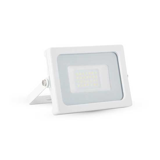 20W LED SLIM Floodlight SMD 4000K 100° 1600LM IP65 - Shiny White