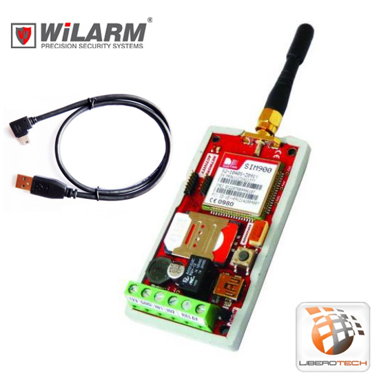 GSM remote control - IN 1 - 1 IO - 1 Relay WiLARM-ONE + USB Cabl