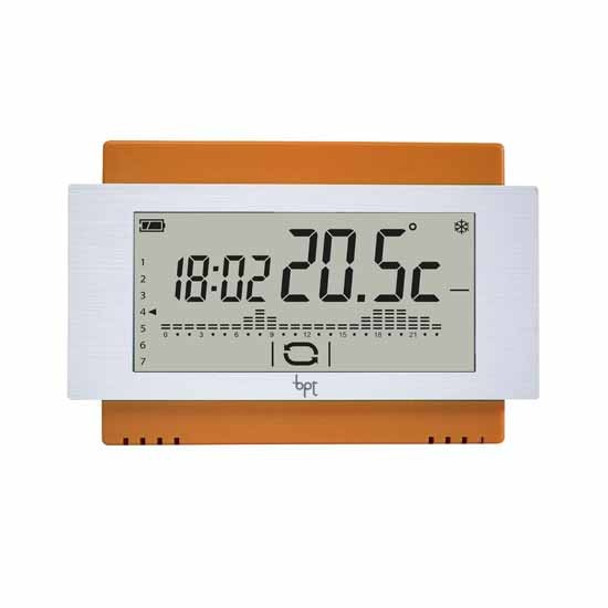 Touch screen Chronothermostat Wall Battery orange Bpt TH/500 OR