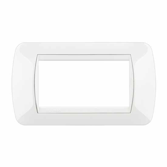 Placca Living International 4 moduli - Bianco L4804BI