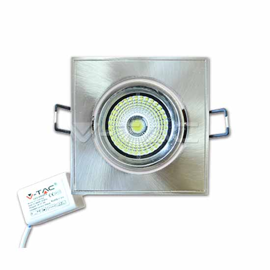 5W LED Downlight COB Carré Changement d'angle Blanc chaud