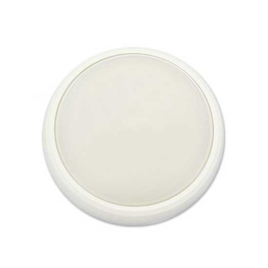 8W Dome Light Fitting White Body Round Natural White 4000K IP65