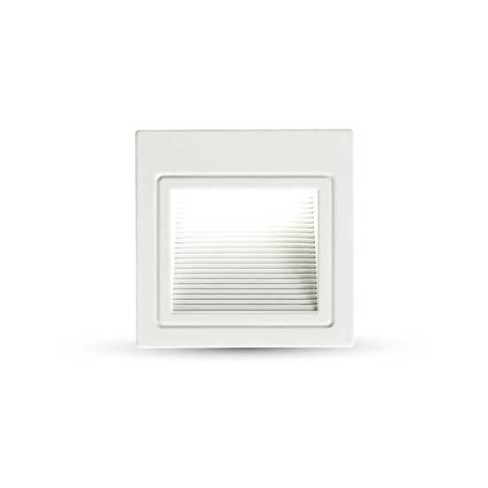 3W LED Steplight Square Aluminum 83° 4000K 100LM IP20
