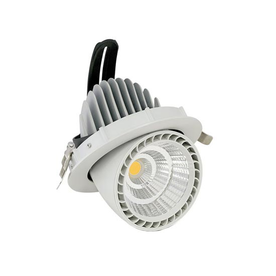 33W LED COB Zoom Fitting Downlight Round 4000K 24° 2650LM Φ115mm