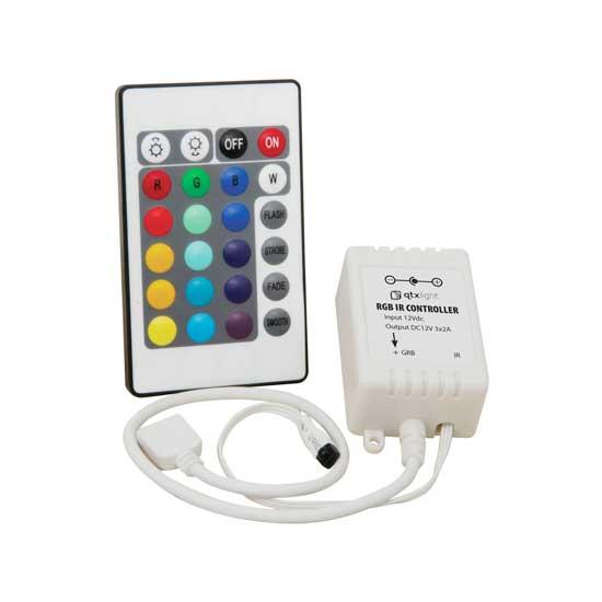 Controller striscia led rgb con telecomando 24 tasti vt for Striscia led rgb
