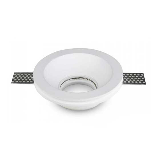 GU10 Housing round GYPSUM White for LED Spotlights V-TAC Φ120mm