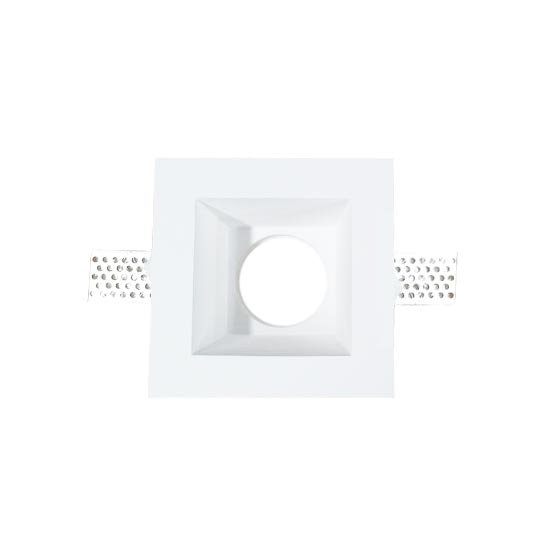 GU10 Housing square GYPSUM for Spotlights V-TAC 120x120mm