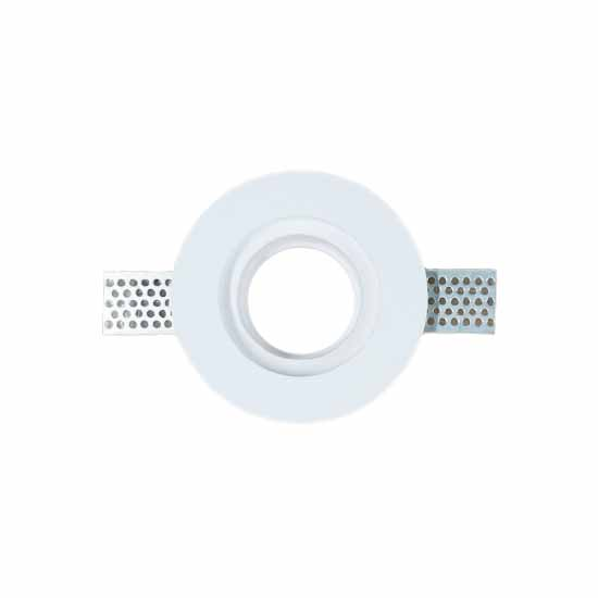 GU10 Housing round GYPSUM White for LED Spotlights V-TAC Φ103mm