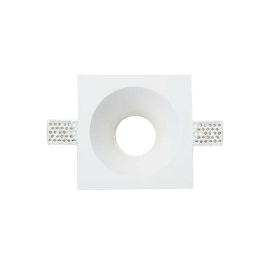 GU10 Housing square GYPSUM for Spotlights V-TAC Φ121x121mm