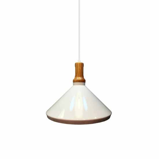 Pendant Light 1MT E27 Elegant Stylish Ф350mm- White Wooden