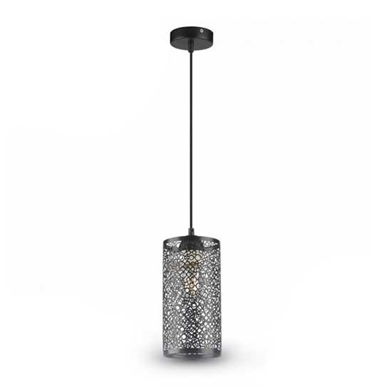 Pendant Light 1MT E27 Elegant Stylish Ф130mm - Metal Matt Black