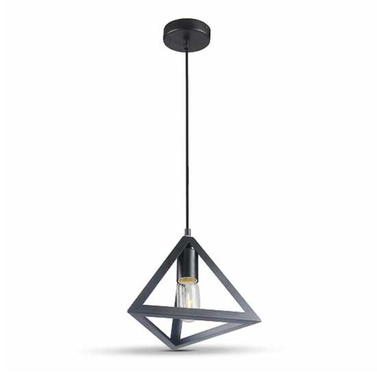 Geometric Pendant Light Matt schwarz Triangle 1MT E27 Ф250mm