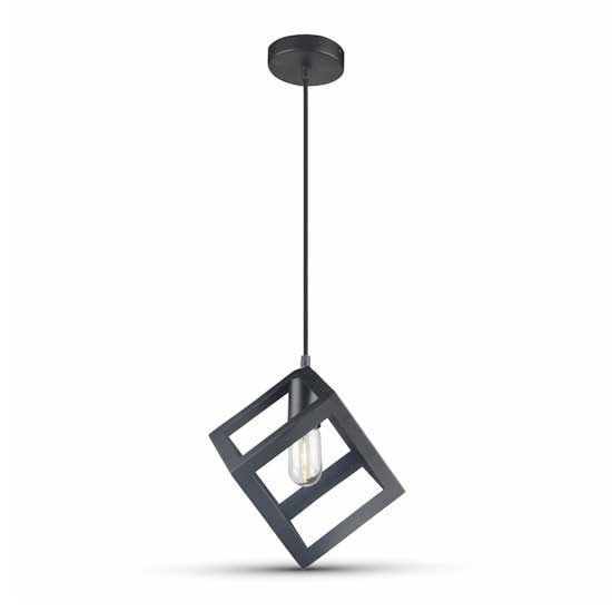 Geometric Pendant Light Matt schwarz Rhombus 1MT E27 Ф250mm