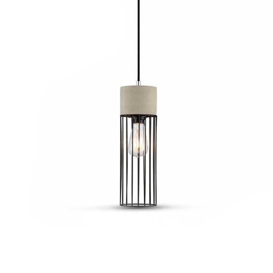 Pendant Light 1MT E27 Elegant Stylish Ф120mm - Béton + Fer