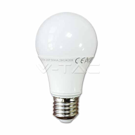 LED Birne A60 10W 200° 806LM E27 Thermoplast Naturweiß 4000K