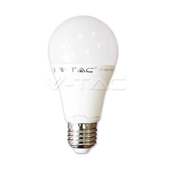 12W Ampoule LED E27 A60 thermoplastique blanc naturel 4500K