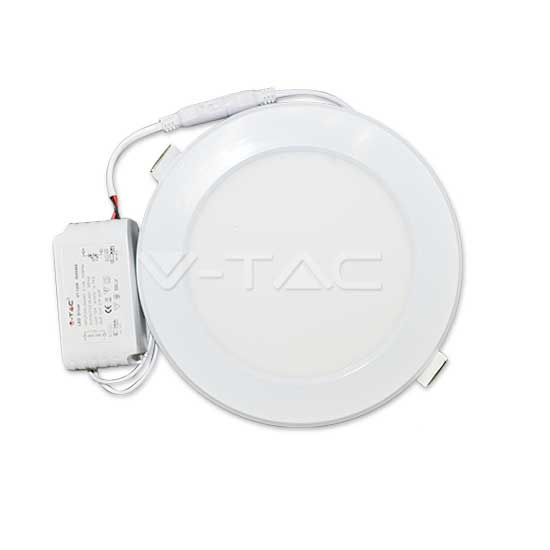 18W LED SMD Panel Downlight Round Warm White 3000K + Driver